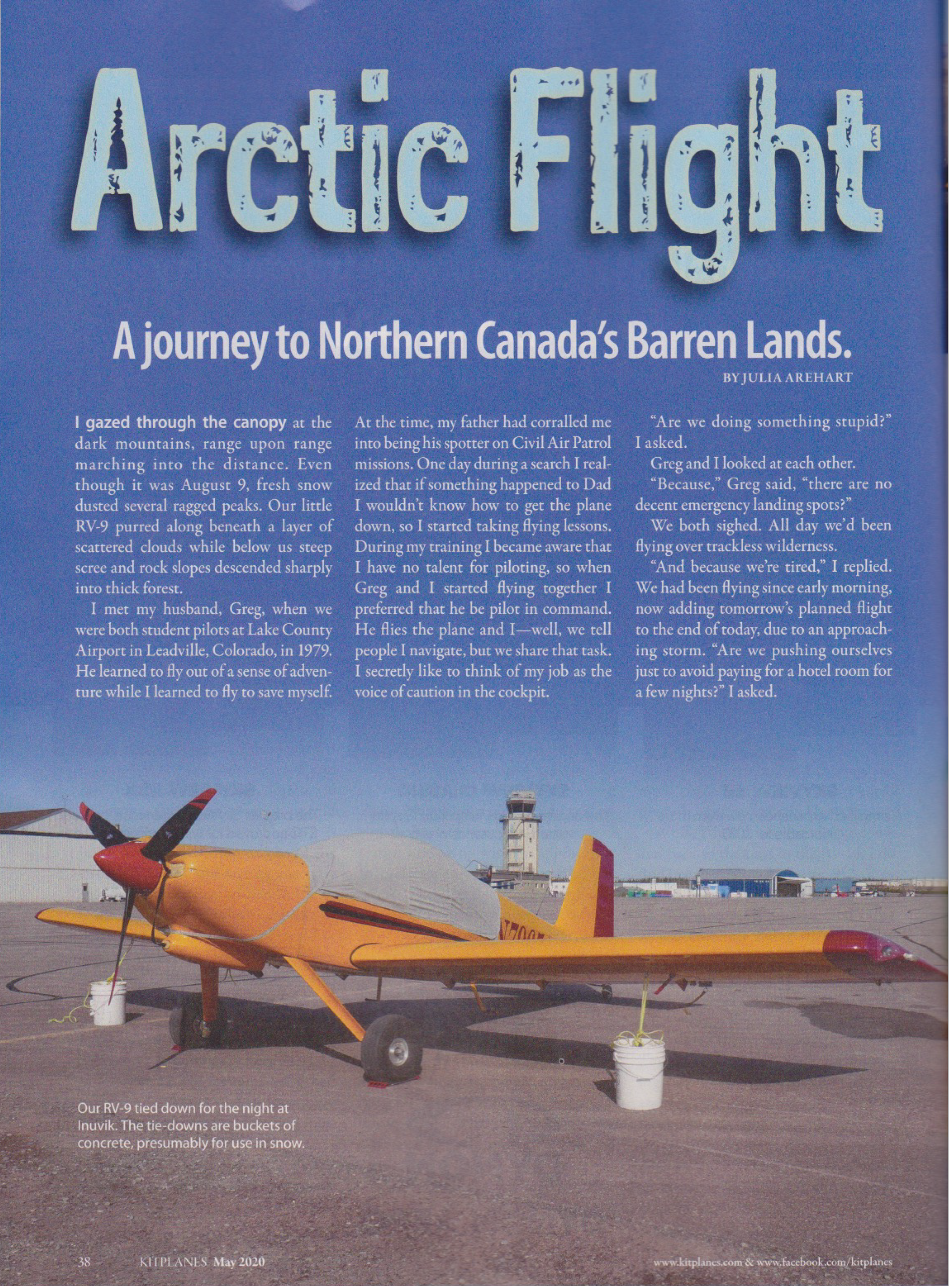 Arctic Flight - KITPLANES, May 2020