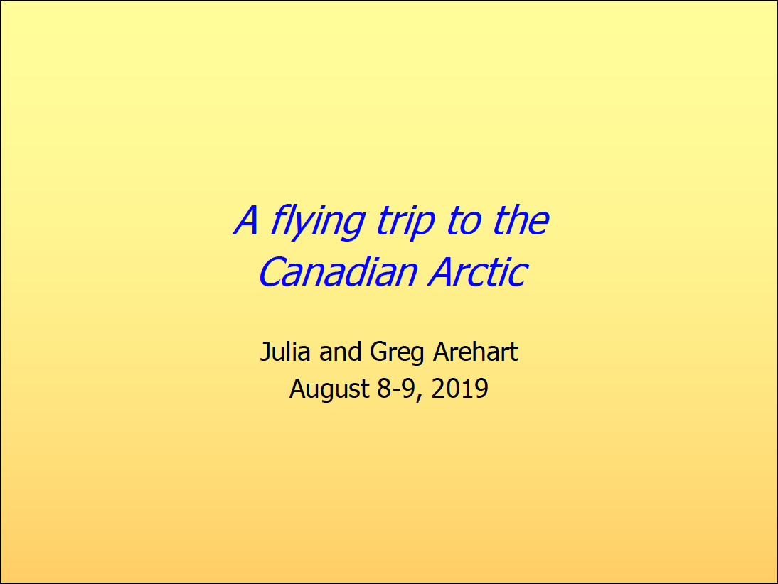Arctic Flight - SLide Deck